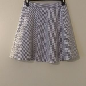 Uniqlo Contrasting Striped Skater A-line Skirt New